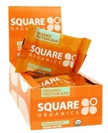 Square Organics - Organic Protein Bar Box Chocolate Coated Peanut Butter - 12 Bars