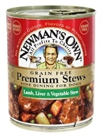 Newman's Own Organics - Grain Free Premium Dog Food Lamb, Liver & Vegetable - 12 oz.