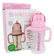 Thinkster Straw Bottle Stage D 12 Months to 36 Months Pink - 9 oz.