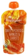 HappyFamily - HappyBaby Clearly Crafted Organic Baby Food Sweet Potatoes, Mangos and Carrots - 4 oz.