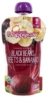HappyFamily - HappyBaby Clearly Crafted Organic Baby Food Black Beans, Beets and Bananas - 4 oz.