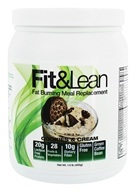 Fit & Lean - Fat Burning Meal Replacement Cookies & Cream - 1 lb.