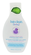 Live Clean - Baby Tearless Baby Wash with Colloidal Oatmeal & Chamomile - 10 oz.