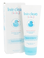 Live Clean - Baby Diaper Rash Cream with Lavender, Aloe & Chamomile - 2.6 oz.