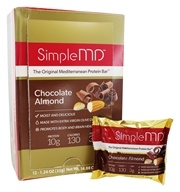 SimpleMD - The Original Mediterranean Protein Bar Chocolate Almond - 12 Bars