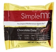 SimpleMD - The Original Mediterranean Protein Bar Chocolate Date - 1.24 온스.