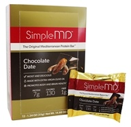 SimpleMD - The Original Mediterranean Protein Bar Chocolate Date - 12 막대기
