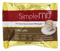 SimpleMD - The Original Mediterranean Protein Bar Caffe Latte - 1.24 once.