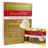 SimpleMD - The Original Mediterranean Protein Bar Caffe Latte - 12 Bars