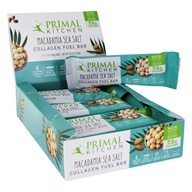 Primal Kitchen - Gluten-Free Bars Made with Grass Fed Collagen Macadamia Sea Salt  - 12 Bars