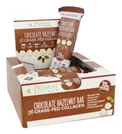 Primal Kitchen - Gluten-Free Bars Made with Grass Fed Collagen Chocolate Hazelnut  - 12 Bars