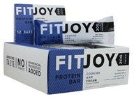 FitJoy Nutrition - Protein Bar Cookies and Cream - 12 Bars