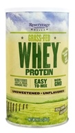Reserveage Nutrition - Non-GMO Grass-Fed Whey Protein Unflavored - 11.1 oz.