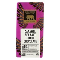 Barra de chocolate oscuro 60 % de sal de mar de cacao y caramelo - 3 oz. by Endangered Species
