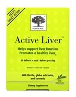 Active Liver Milk Thistle, Globe Artichoke, Turmeric and Choline - 30 Tablets by New Nordic