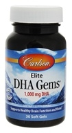 Carlson Labs - Elite DHA Gems 1,000mg DHA - 30 Softgels