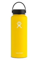 Hydro Flask - Stainless Steel Water Bottle Vacuum Insulated Wide Mouth with Flex Cap Lemon - 40 oz.