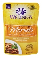 Wellness Pet - Grain-Free Healthy Indulgence Morsels With Chicken & Salmon in Savory Sauce - 3 oz.
