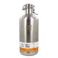 Klean Kanteen - Stainless Steel Insulated Growler Water Bottle with Swing Lok Cap Brushed Stainless - 64 oz.
