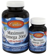 Carlson Labs - Maximum Omega 2000 - 90 + 30 Softgels