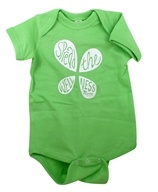 Infant Onesie 6 Months Green by LuckyVitamin Gear