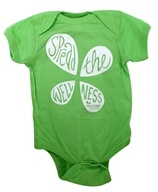 Infant Onesie 12 Months Green by LuckyVitamin Gear