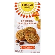 Simple Mills - Crunchy Cookies Naturally Gluten-Free Toasted Pecan - 5.5 oz.