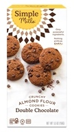 Simple Mills - Crunchy Cookies Naturally Gluten-Free Double Chocolate - 5.5 oz.