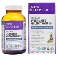 New Chapter - Every Man's One Daily 55+ Multi - 72 Vegetarian Tablets