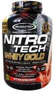 Muscletech Products - Nitro-Tech Performance Series 100% Whey Gold Strawberry - 6 lbs.