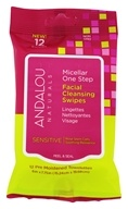 Andalou Naturals - Micellar One Step Facial Cleansing Swipes Sensitive - 12 Towelette(s)