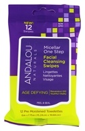 Andalou Naturals - Micellar One Step Facial Cleansing Swipes Age Defying - 12 Towelette(s)