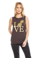 Gold Pineapple Hi Lo Muscle Tee Union Black - Medium