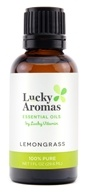 LuckyAromas - 100% Pure Essential Oil Lemongrass - 1 fl. oz.