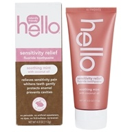 Hello Products - Sensitivity Relief Fluoride Toothpaste Soothing Mint with Coconut Oil - 4 oz.