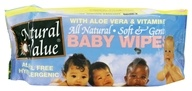 Natural Value - All Natural Baby Wipes Unscented - 80 Wipe(s)