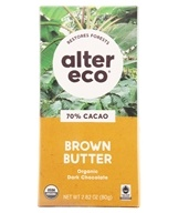 Organic Dark Salted Chocolate 70% Cocoa Brown Butter - 2.82 oz.