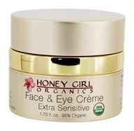 Honey Girl Organics - Organic Face & Eye Cream Extra Sensitive - 1.75 oz.