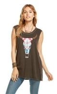 Aztec Cowskull Tank Top Vintage Black - Large