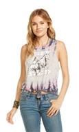 Free Spirit Tie Front Muscle Tank Tie-Dye - Extra Small