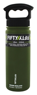 Fifty/Fifty Bottles - Double-Wall Vacuum-Insulated Stainless Steel Bottle Olive Green - 18 oz.