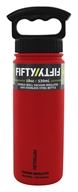 Fifty/Fifty Bottles - Double-Wall Vacuum-Insulated Stainless Steel Bottle Cherry Red - 18 oz.