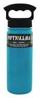 Fifty/Fifty Bottles - Double-Wall Vacuum-Insulated Stainless Steel Bottle Aqua - 18 oz.