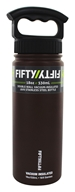 Fifty/Fifty Bottles - Double-Wall Vacuum-Insulated Stainless Steel Bottle Mocha Brown - 18 oz.