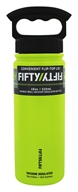 Fifty/Fifty Bottles - Double-Wall Vacuum-Insulated Stainless Steel Bottle Lime Green - 18 oz.