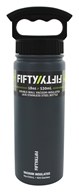 Fifty/Fifty Bottles - Double-Wall Vacuum-Insulated Stainless Steel Bottle Slate Grey - 18 oz.