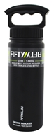 Fifty/Fifty Bottles - Double-Wall Vacuum-Insulated Stainless Steel Bottle Matte Black - 18 oz.