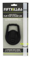 Fifty/Fifty Bottles - Wide Mouth Straw Lid Black