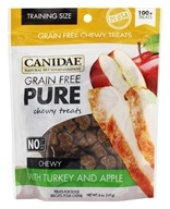 Canidae Pet Foods - Grain Free Pure Chewy Dog Treats with Turkey & Apple - 6 oz.