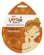 Yes To - Miracle Oil Brighten & Condition Mud Face Mask Argan Oil - 0.33 oz.